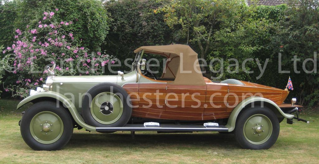 1925 Lanchester 40hp Boatdeck with one hood raised
