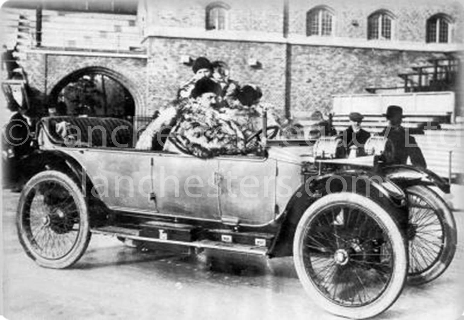 Lanchester 25hp Phaeton in 1913 at the Swedish Winter Rally