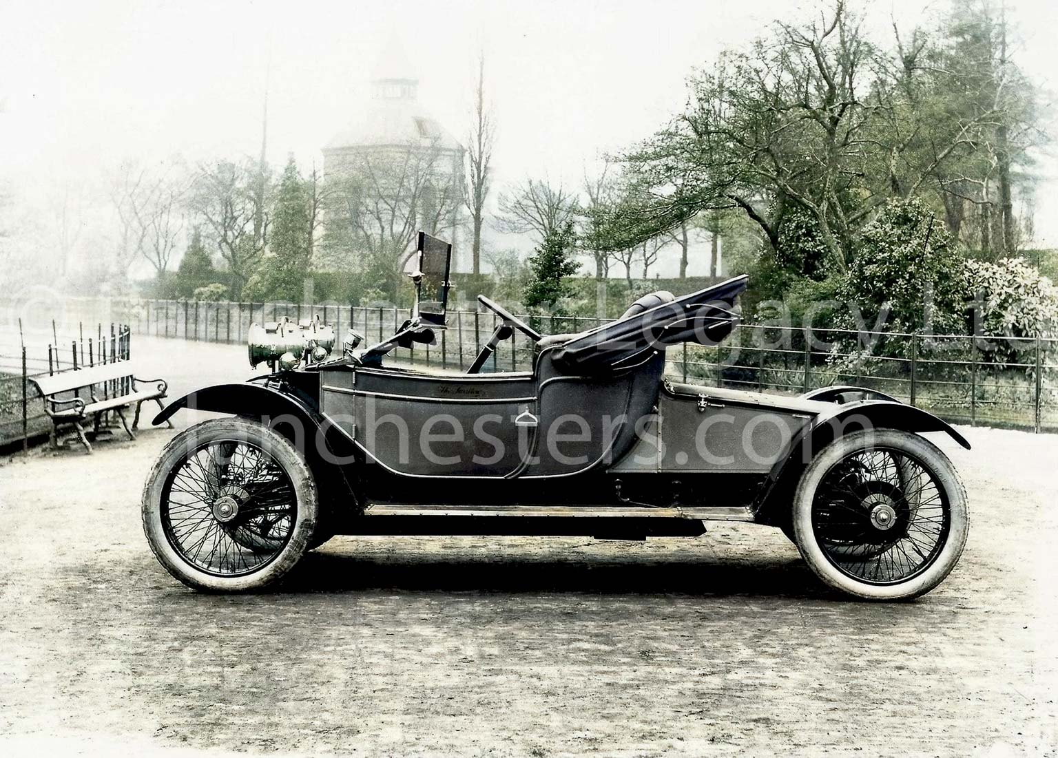 Lanchester 25hp 2-seat phaeton with folded hood