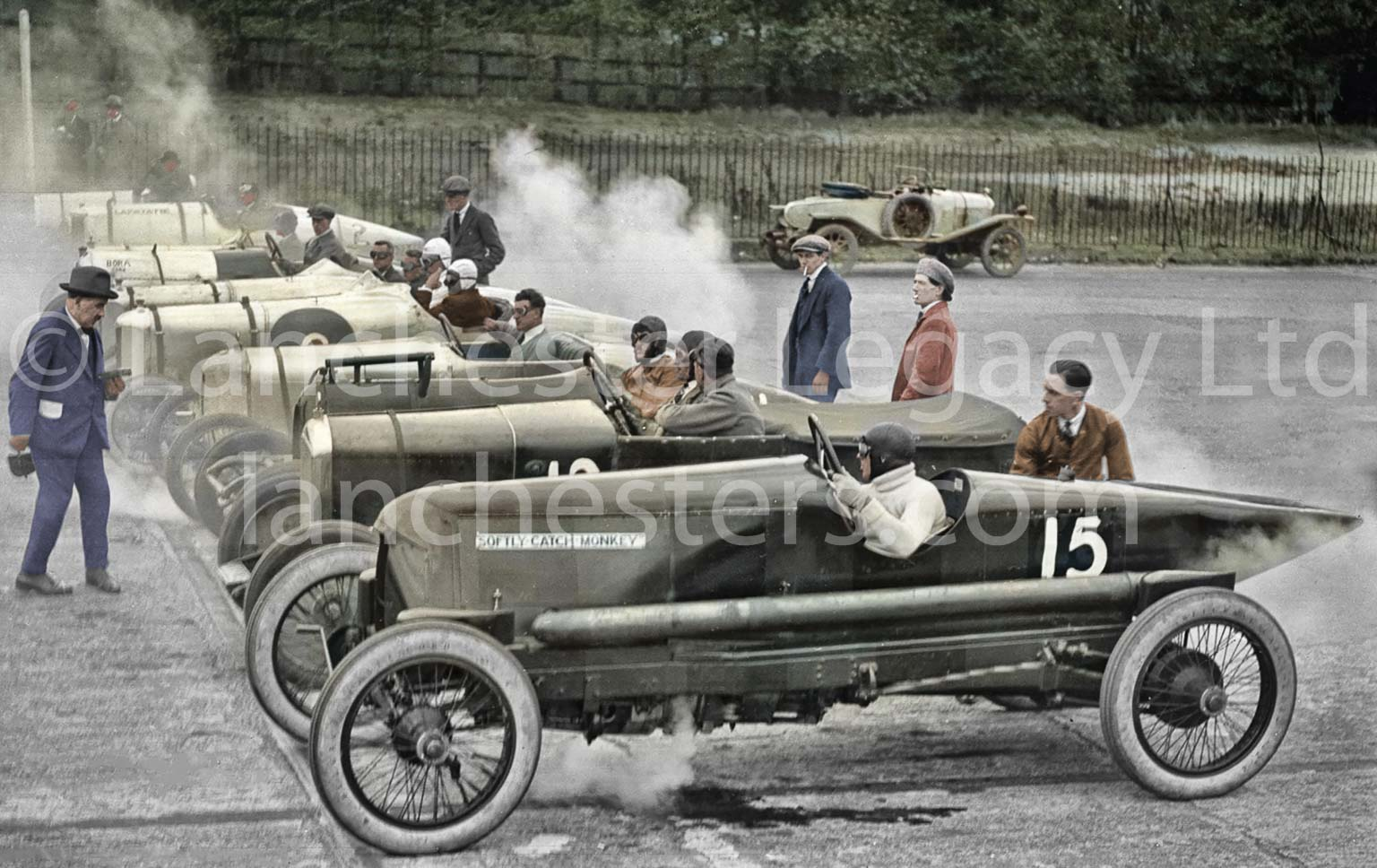 Lanchester 25hp 'Softly Softly' at Brooklands