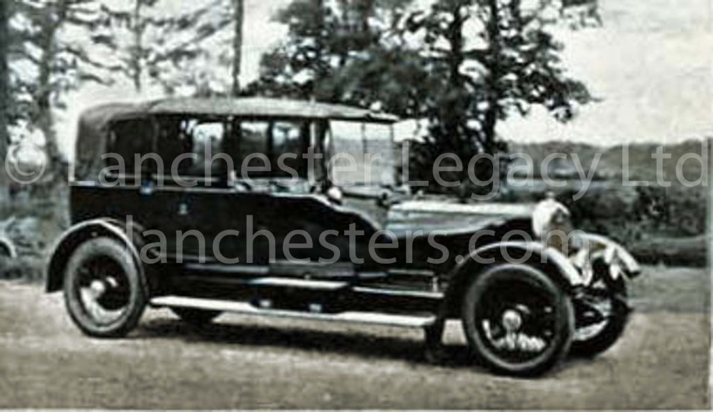 1922 Lanchester 40hp Landaulet Ladies' car with purdah glass used by Royalty in India