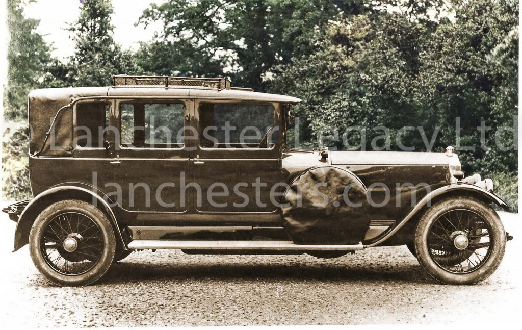 Lanchester 40hp Landaulet photographed in 1921