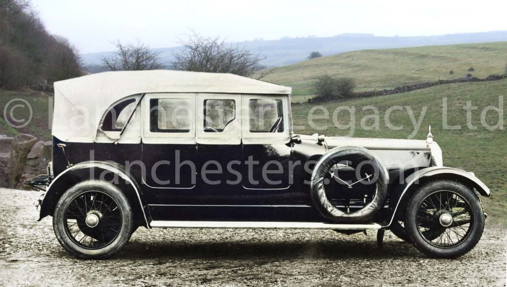 Lanchester 40hp Tourer with full side-screens