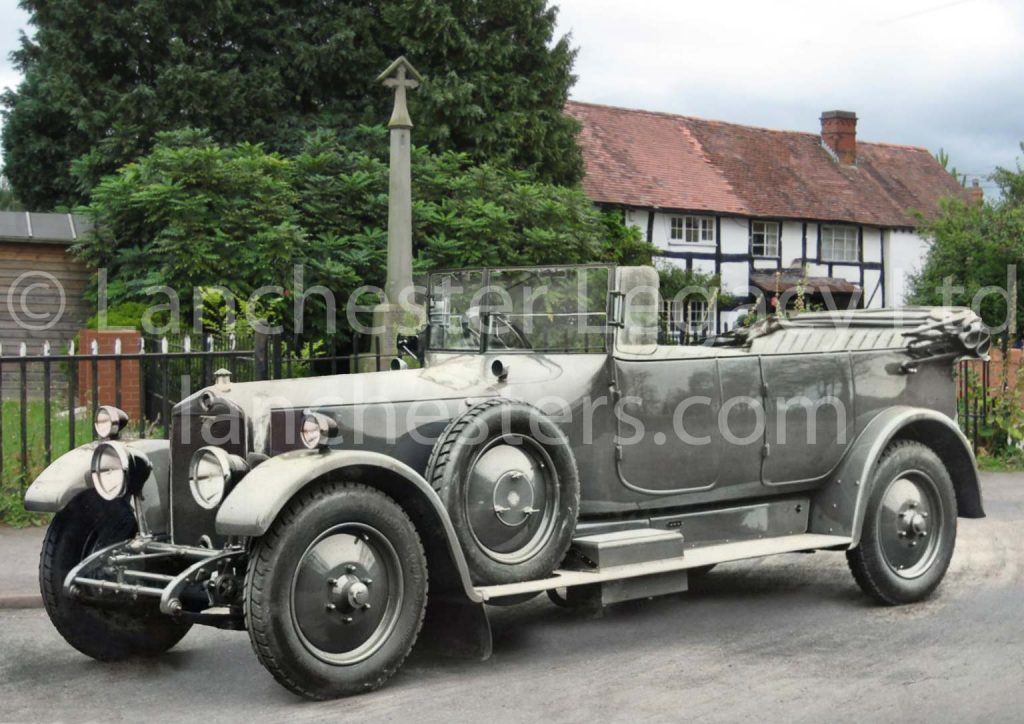 Lanchester 40hp Tourer with hood down